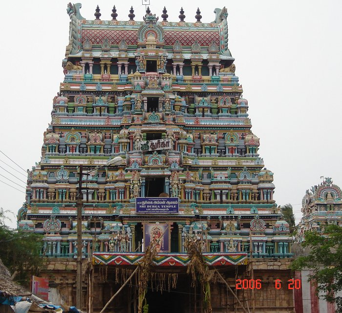 Ashtadasabhuja Durga Darshana - 12. Sree Patteeswaram Durgai Temple - Kumbakonam