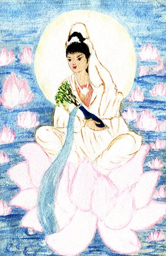 Chinese Lotus Flower Goddess