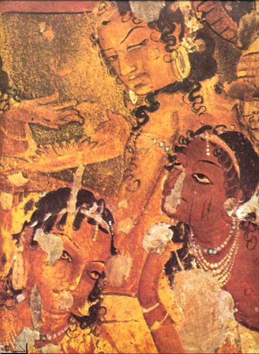 Indian heritage painting ajanta cave paintings for Egyptian fresco mural painting